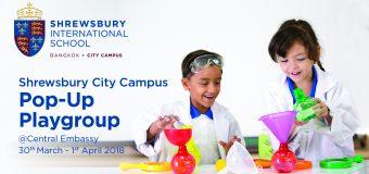 Shrewsbury City Campus Pop-Up Playgroup @ Central Embassy 3月30日〜4月1日